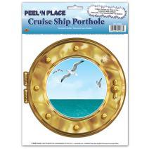 Cruise Ship Porthole Peel N Place 12 x 15 Sh (Value 3-Pack)