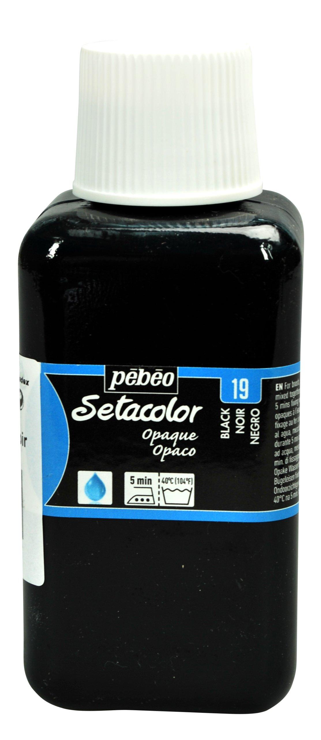 PEBEO Setacolor Opaque Fabric Paint 250-Milliliter Bottle, Black