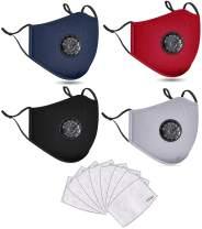 4 PCS Washable Reusable Adjustable Cotton Face Madks, B2N2GB