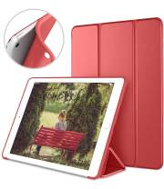 DTTO Mini Case for iPad Mini 3/2/1, (Not Compatible with Mini 5th Generation 2019) Ultra Slim Lightweight Smart Case Trifold Cover Stand with Flexible Soft TPU Back Cover [Auto Sleep/Wake],Red