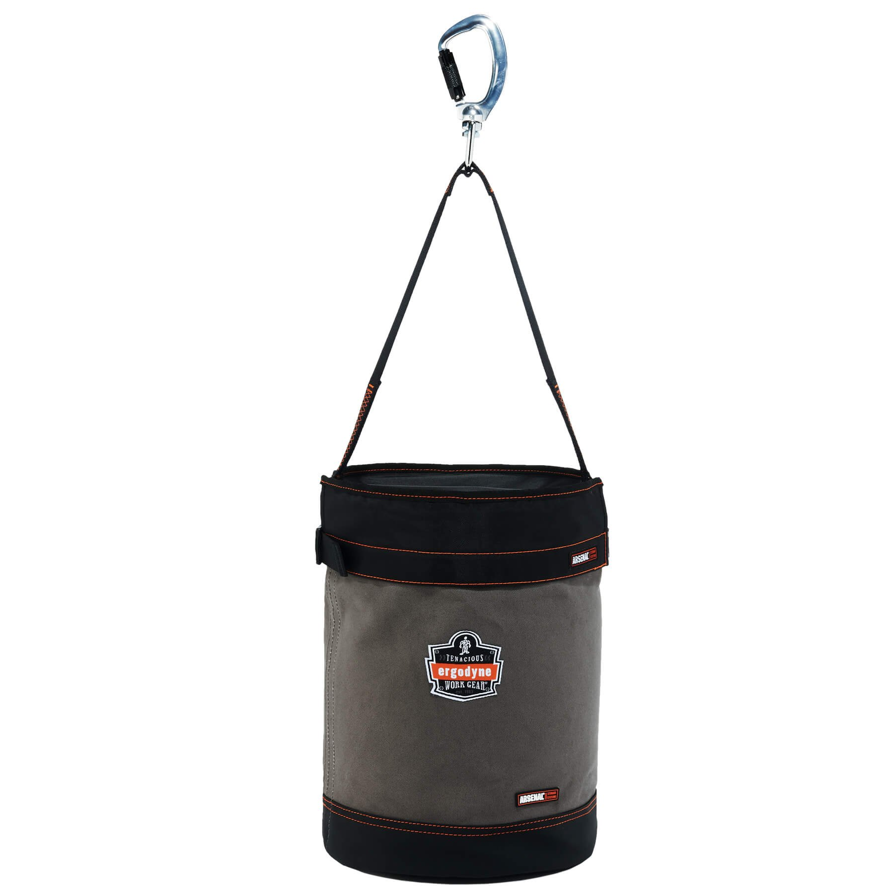 Ergodyne Arsenal 5940T Large Canvas Tool Bucket with Cover, Gray