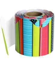 Carson Dellosa – Stylin Stripes Rolled Scalloped Border, Classroom Décor, 36 Feet