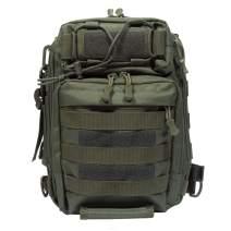 NKTM Outdoor Single Shoulder Fishing Tackle Bag Backpack Handbag Crossbody Messenger Camping Hiking Cycling
