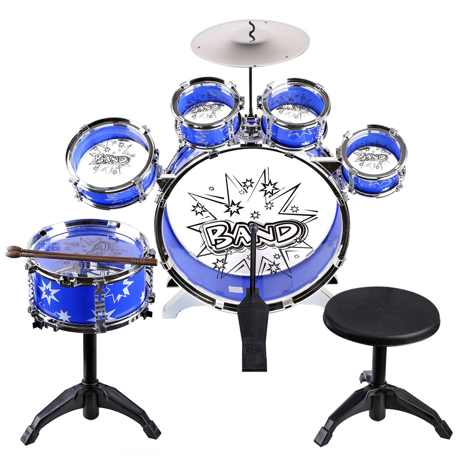 URBAN KIT Kids Musical Drum Instrument Set   drum sets for toddlers   toy drums for kids  drum set for baby boys   band set for kids   girls toy-Blue