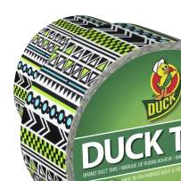 """Duck Brand 284563 Color Printed Duct Tape, Tribal, 1.88"""" x 10 Yards, Single Roll"""