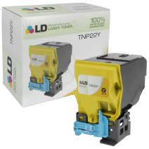 LD Remanufactured Toner Cartridge Replacement for Konica Minolta TNP22Y A0X5232 (Yellow)