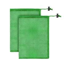 ELVES 2 PCS Durable Nylon Mesh Bag with Sliding Drawstring Cord Lock Closure, For Golf ball Tennis Balls,Gym,Shower,Washing Toys,Diving