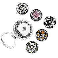MJartoria 3-12PCS Interchangeable Flower Snap Buttons Centerpiece Rhinestone Eye Glass Holding Magnetic Brooch
