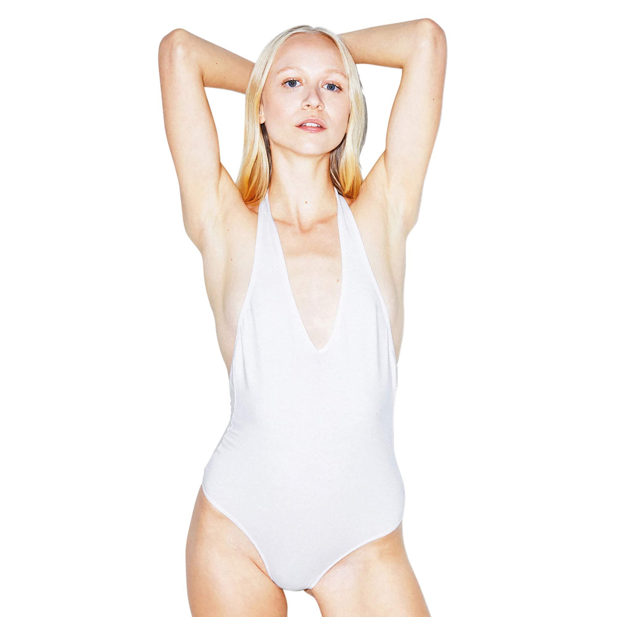 American Apparel Women's Cotton Spandex Halter Bodysuit