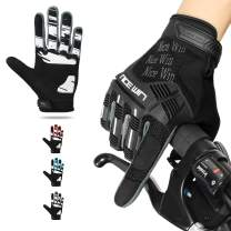NICEWIN Motorcycle Cycling Gloves Full Finger Knuckles Protection Gel Pad Black S