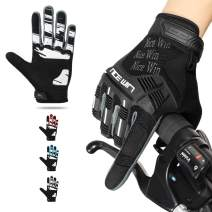 NICEWIN Motorcycle Cycling Gloves Full Finger Knuckles Protection Gel Pad Black XL