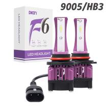 HB3 9005 LED High Beam Headlight Bulbs Conversion Kit, CSP Chips 6000K White 16000lm Headlamp with Fan Extremely Bright, 1 Pair