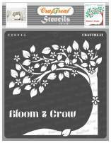 CrafTreat Tree Stencils for Painting on Wood, Canvas, Floor, Wall and Tile - Bloom and Grow - 12x12 Inches - Reusable DIY Art and Craft Stencils for Home Decor - Tree Branch Stencils for Wall Decor