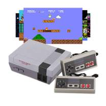 Classic Mini NES Retro Console, AV Output Game Console Built-in 620 Games with 2 Classic Controllers AV Output Video Games