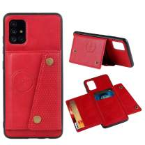 Lnobern Case for Samsung Galaxy A51,Slim Flip Cover Card Slots for Samsung Galaxy A51 Case (for Galaxy A51, Red)