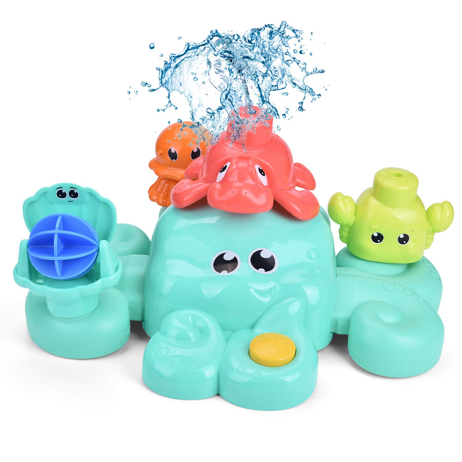 FUN LITTLE TOYS Bath Toys for Toddlers, 5 PCs Bath Tub Toys Set, Spray Water Toys for Kids, Best Gifts for Boys & Girls