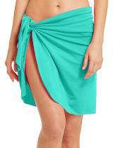 ChinFun Women's Beach Cover Up Luxury Nylon Spandex Sarong Dress Pareo Knee Length Bathing Suit Swimming Waist Wrap