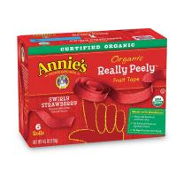 Annie's Homegrown Organic Really Peely Fruit Tape, Strawberry, 72 Count