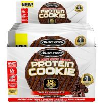 MuscleTech Soft Baked Whey Protein Cookie, Triple Chocolate, Gluten-Free, 3.25-Ounce (Pack of 6-92g)