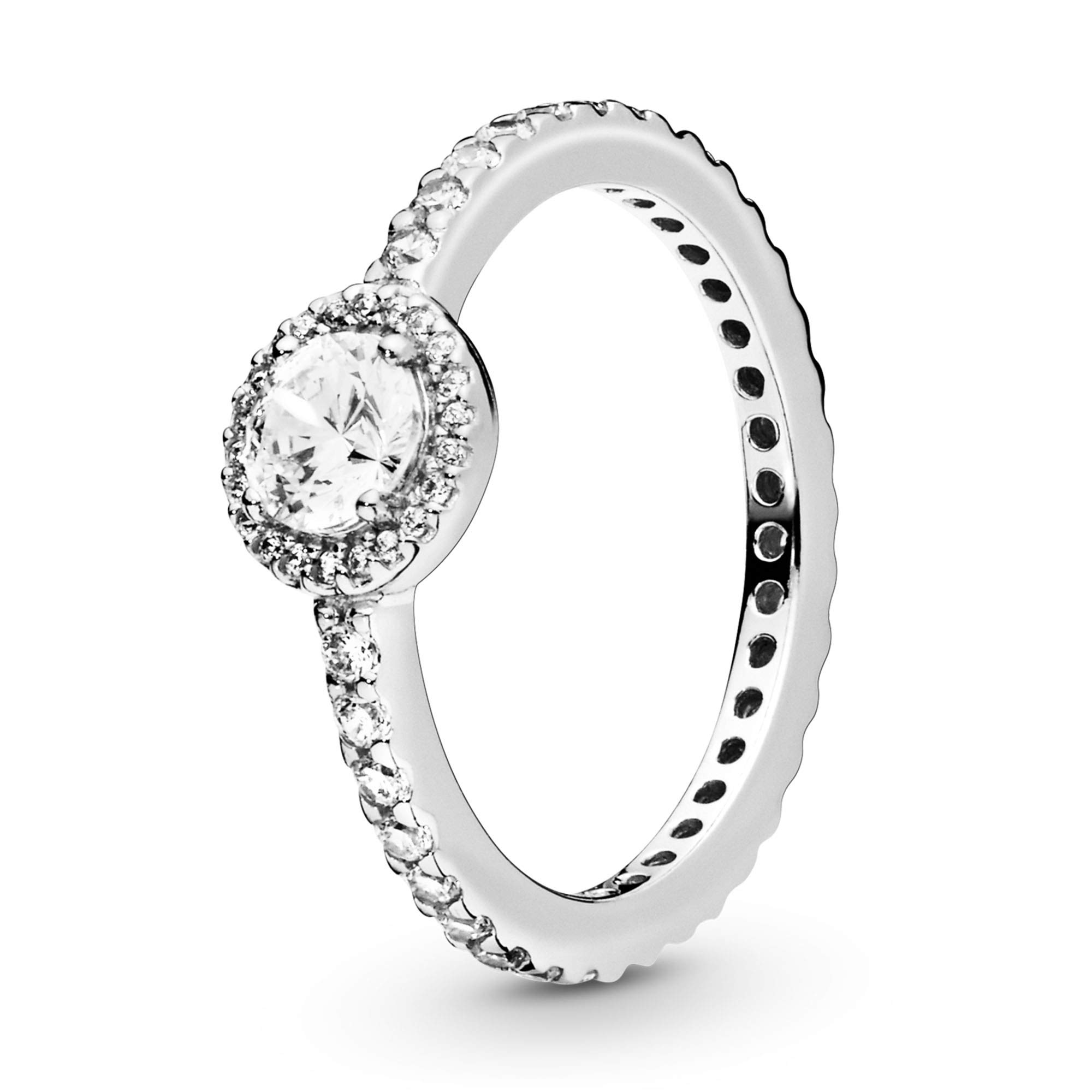 Pandora Jewelry Classic Sparkle Halo Cubic Zirconia Ring in Sterling Silver, Size 9
