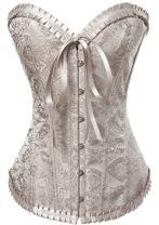 Alivila.Y Fashion Womens Vintage Brocade Lace Boned Renaissance Corset