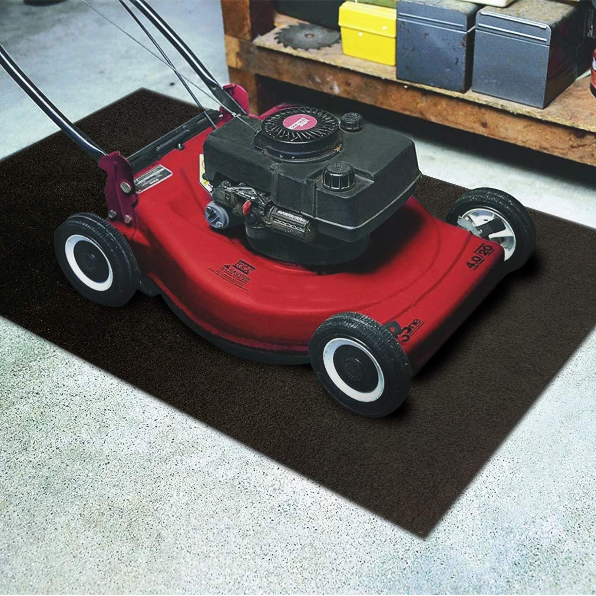 LINLA Premium Absorbent Oil Mat Contains Liquid Garage Floor Mat, Reusable, Washable, Protects Garage Floor or Driveway Surface, Shop,Parking, 30x39 inches
