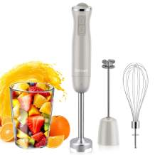 Immersion Hand Blender, Dekewe 3-in-1 Stick Emersion Blender 800W, 12-Speed Handheld Blender with Milk Frother and Egg Whisk for Baby Food, Smoothies, Sauces and Puree