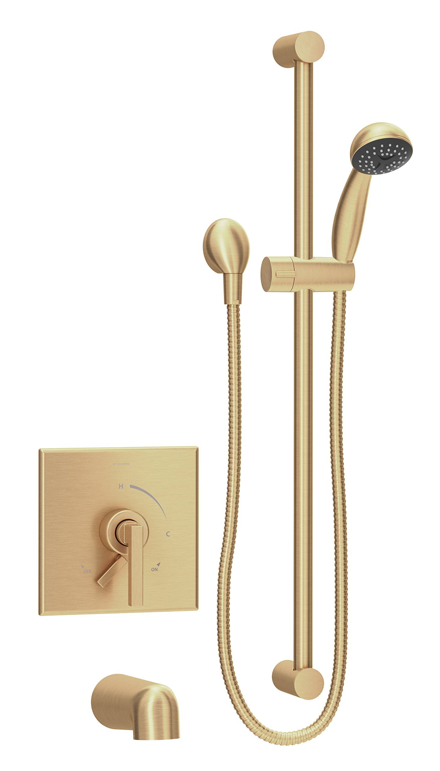 Symmons S-3604-H321-V-BBZ-1.5-TRM Duro Single Handle 1-Spray Tub and Hand Shower Trim in Brushed Bronze - 1.5 GPM (Valve Not Included)