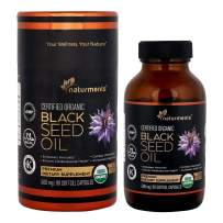 Black Cumin Seed Oil Capsules: Organic, Unrefined, Cold Pressed, Extra Virgin Nigella Sativa Premium Dietary Supplement - Pure, Non GMO, Kosher, Halal Kalonji Oil - Softgels (500 mg)