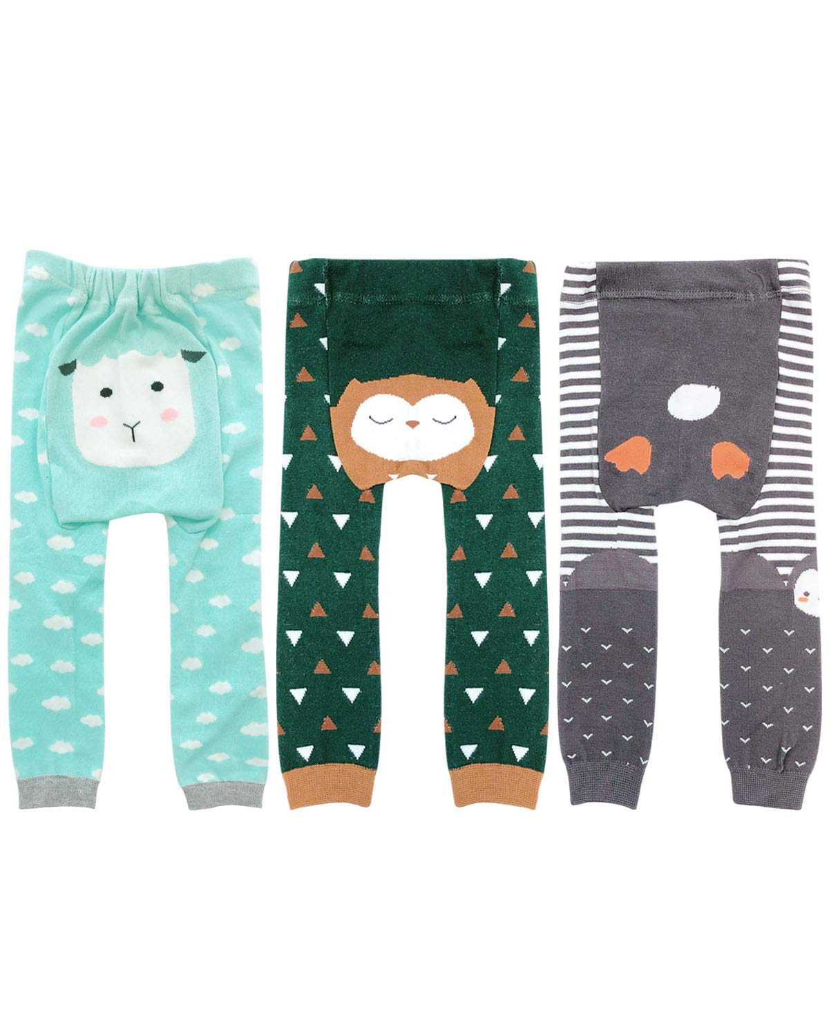Wrapables Baby & Toddler Fun for All Leggings (Set of 3)