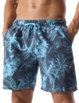 Nonwe Men's Swim Trunks Retro Soft Washed Drawstring Workout Shorts Men