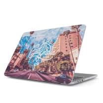 "Glitbit Hard Case Cover Compatible with MacBook Air 13 Inch Case, Model: A1466 / A1369 13-13.3 Inch 13"" California Dreaming Sunny Cali USA Palm Trees Summer Good Vibes"