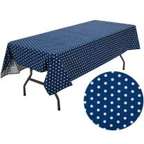 UOMNY Tablecloths Cotton Cartoon Style Blue Point Table Cloth Kitchen Rectangular Table Cover Home Hotel Dining Room Kitchen Rectangular Decorated Tablecloths Cafe Tablecloth,60X84 Inch