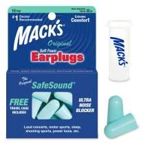 Mack's Original Foam Earplugs - 10 Pair, Blue, One Size
