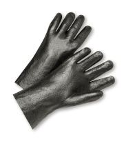 West Chester 1027R Cotton Glove - [Pack of 12] Orange, Large, Safety Work Gloves with PVC Coating, Foam Lining, Gauntlet Cuff, Wing Thumb