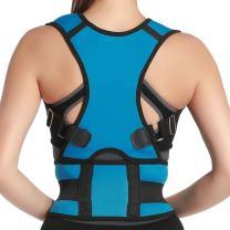 Panegy Comfort Posture Corrector Brace Posture Correction Elastic Clavicle Belt Adjustable Posture Back Support Corrector Brace Lumbar Brace Back Shoulder Support Band Size M Light Blue