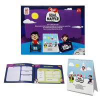 Toiing Goal Mapper - Table Calendar with a Fun Goal Mapper Book for Goal Setting | Kids Birthday Gift | Kids EQ Range of Games| Activity Booklet Game for Kids (8 to 12 Year Old Kids)