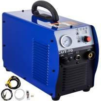 Mophorn Plasma Cutter 70 Amp, Plasma Cutting Machine Dual Voltage 220V, Compact Metal Cutting Machine 20mm(3/4 Inch) Cutting Thickness, IGBT Inverter Digital Portable Plasma Welding Machine