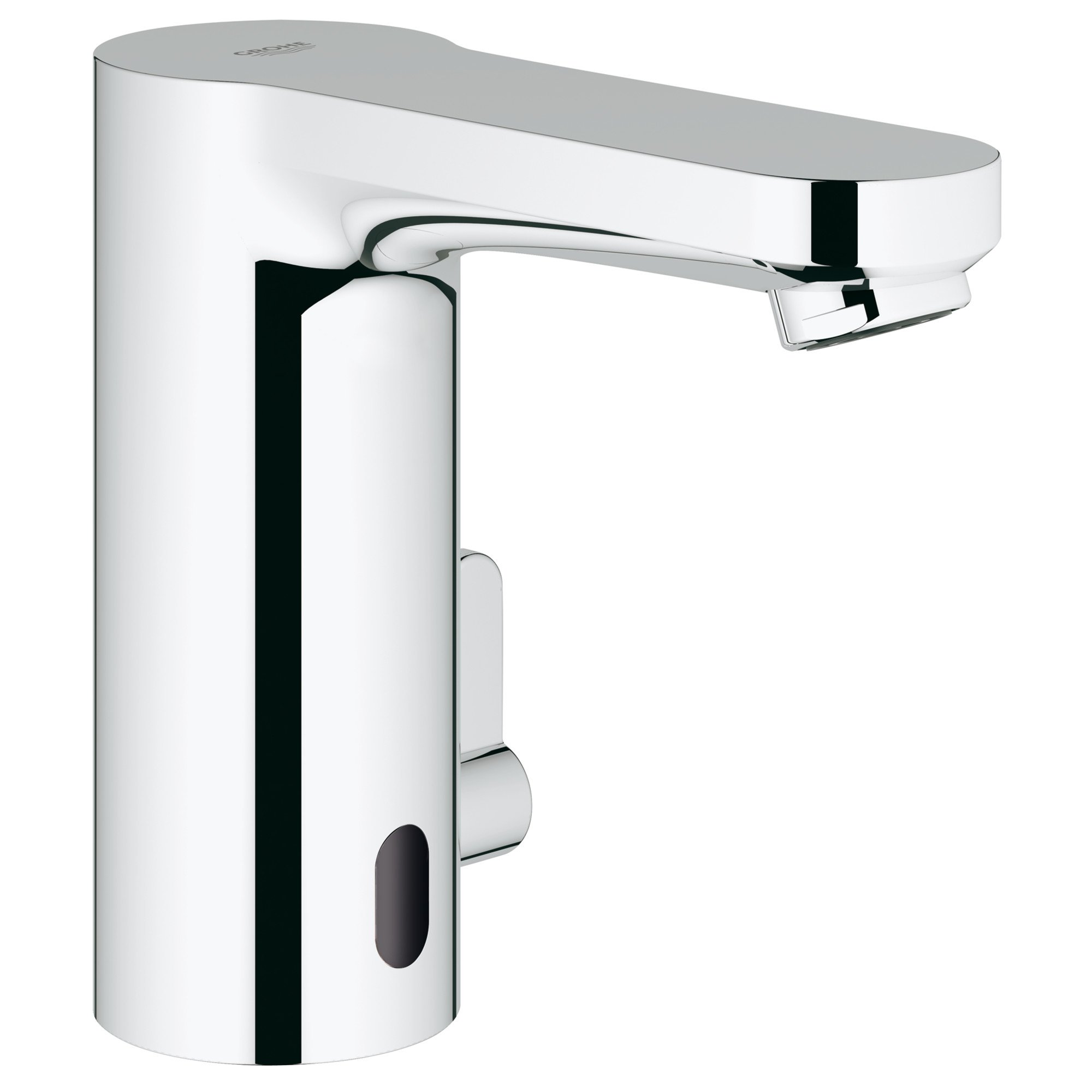 GROHE 36328000 Eurosmart Cosmopolitan E Singel Hole Touchless Electronic Bathroom Faucet With Temperature Control Lever, Starlight Chrome