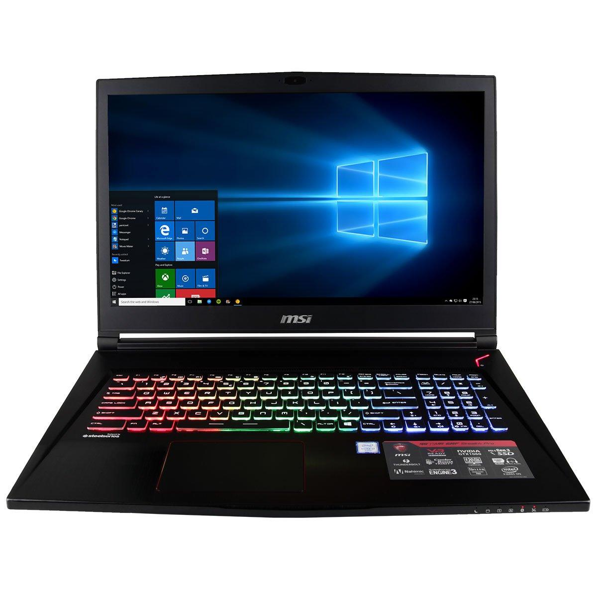 "CUK GS73VR Stealth PRO VR Ready Gamer Notebook (Intel i7-7700HQ, 32GB RAM, 1TB NVMe SSD + 2TB HDD, NVIDIA GeForce GTX 1070 8GB, 17.3"" Full HD 120Hz 5ms, Windows 10 Home) Gaming Laptop Computer"