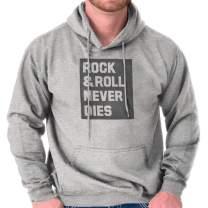 Brisco Brands Rock & Roll Never Dies Metal Hardcore Fan Hoodie