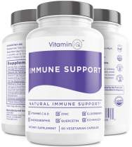 Immune Support Supplement with Vitamin C and Zinc, Sambucus Elderberry, Vitamin D3, Glutathione, Echinacea Capsules - Natural Immune Booster Herbal Supplements - Vegan, Gluten-Free (60ct) VitaminIQ