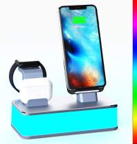 Wireless Charging Station,[2020 Upgraded]VMEI 7 in 1 Wireless Charger Stand for Watch, AirPods Pro,iPhone,Galaxy Smart Phone.Table Lamp for Bedroom, Living Room,Office.USB C Charger(Gray)