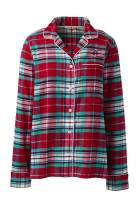 Lands' End Women's Long Sleeve Print Flannel Pajama Top
