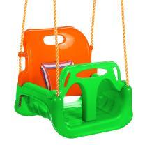 ANCHEER 3-in-1 Toddler Swing Seat Infants to Teens, Detachable Outdoor Toddlers Children Hanging Seat (Green Orange)