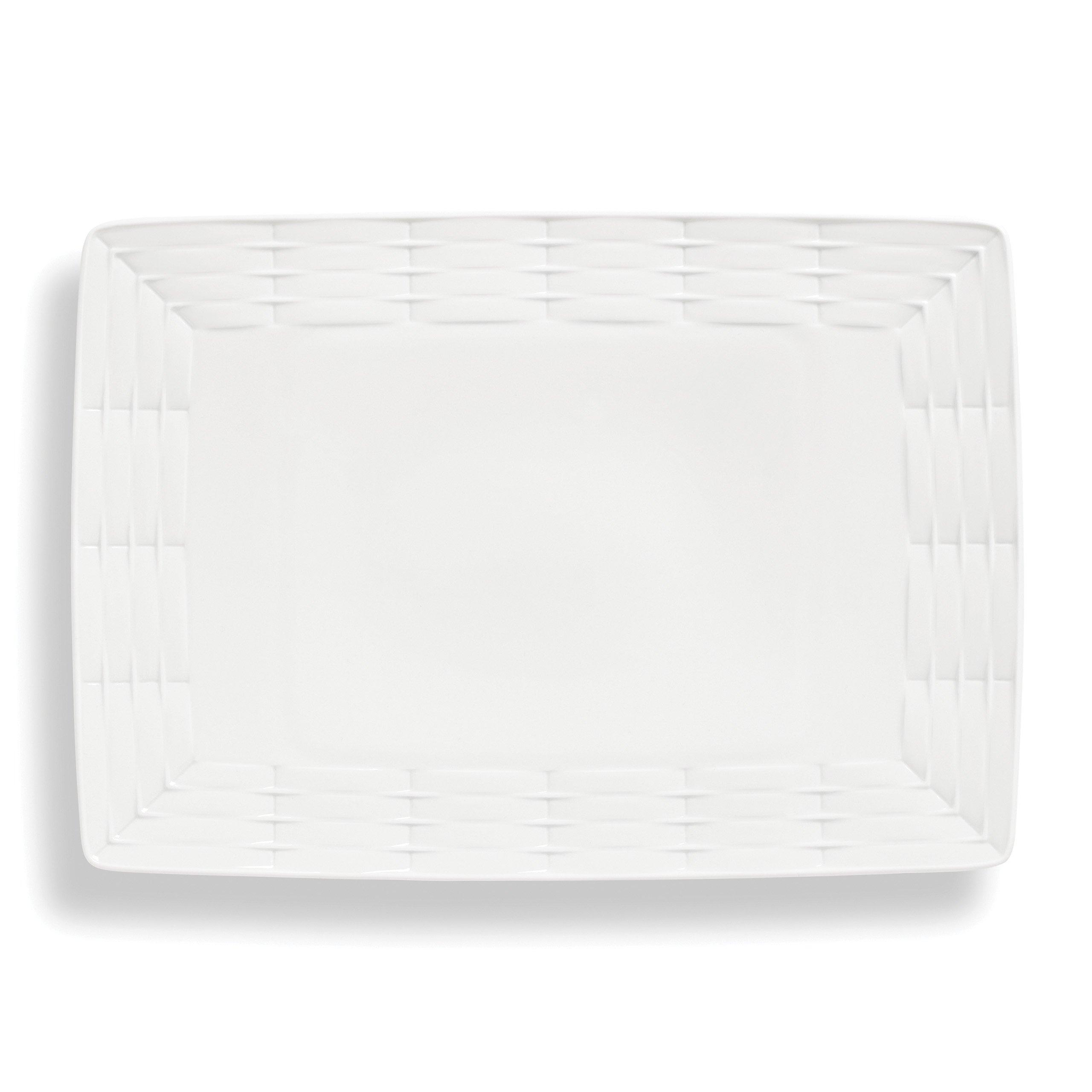 Lenox Entertain 365 Sculpture Oversized Platter, White