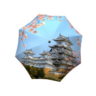 Cherry blossom pink parasols for rain or shine