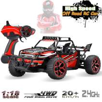 SZJJX RC Cars Off-Road Rock Vehicle Crawler Truck 2.4Ghz 4WD High Speed 1:18 Remote Radio Control Racing Cars Electric Fast Race Buggy Hobby Car Red