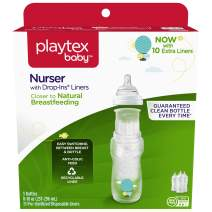 Playtex Baby Nurser Baby Bottle with Drop-Ins Disposable Liners, Closer to Breastfeeding, 8 Ounce - 5 Pack
