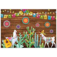 Allenjoy 7x5ft Soft Fabric Mexican Fiesta Theme Backdrop for Photography Summer Cinco De Mayo Birthday Party Decoration Cactus Mexico Wood Background Newborn Baby Shower Banner Photo Booth Shoot Props